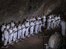Telluric Concert in the Black Cave of Matasolana